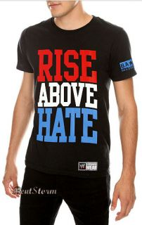 Rise Above Hate Wrestling T Shirt Tee Hustle Loyalty Respect S