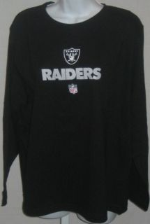 Oakland Raiders Football Womens T Shirt Sparkle Black LS