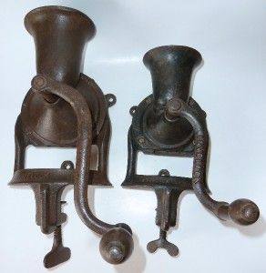 Lovelock No 2 Antique Cast Iron Coffee Grinder London 1890s Vintage
