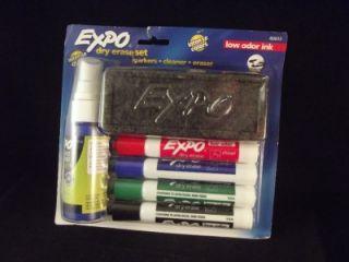 Expo Dry Erase Set Low Odor Ink Markers Cleaner Eraser Intense Color