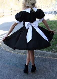Cute Salem Witch Halloween Costume Gothic Lolita Black Dress Custom
