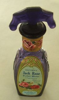 Exquisite Antique Jack Rose Deep Purple Perfume Bottle w Original