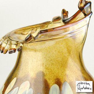Hand Blown Glass Vase Sculpture by Mariusz Rynkiewicz