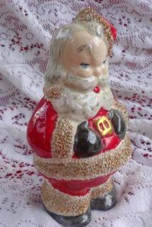 Vintage Santa 5 1940s Christmas Santa Vintage Figurine Gold Spaghetti