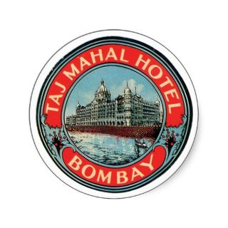 Taj Mahal Hotel Bombay Luggage Tag Stickers