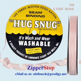 100 Yd Roll ~ 1/2 Wide ~ Hug Snug Seam Binding ~ Lyric Rose ~