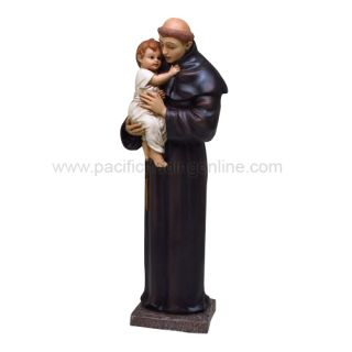 Catholic Priest Friar Infant Saint Anthony of Padua Statue Religious