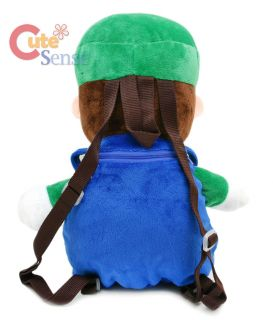 Super Mario Brothers Luigi Plush Backpack Cosplay Bag