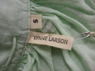 DESCRIPTION  NWT LYNNE LARSON Aqua green tank sleeveless $210 peasant