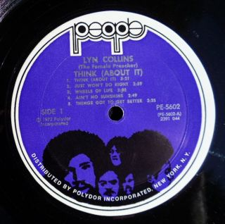 Lyn Collins Think About It 1972 People LP Funk Original Issue James