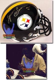 Lynn Swann Autographed Pittsburgh Steelers Mini Helmet w HOF 01
