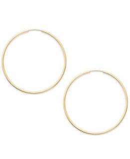 14k Gold Earrings, Endless Hoop Earrings (35mm)   Earrings   Jewelry