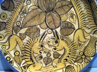 Old Mexican Tonala Pottery 11 Fantasia Charger Lucano Style 2