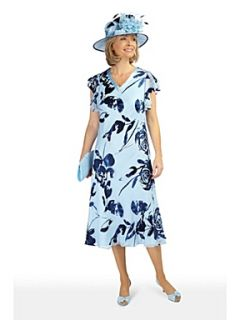Jacques Vert Rosa grande devore dress Blue