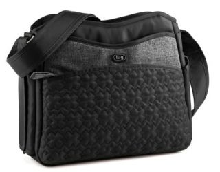 Lug Life Midnight Black Shimmy Convertible Shoulder Crossbody Purse