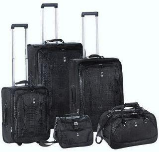 Heys Travel Concepts  Croco Luggage Set Black