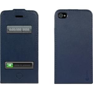Macally Europa Carrying Case Flip for iPhone Leather Apple iPhone 4 4S