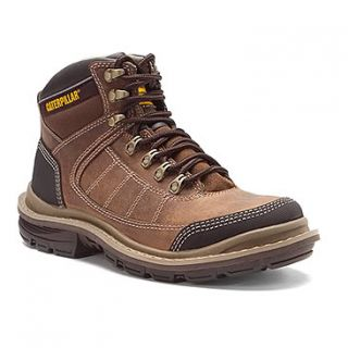 Mens Caterpillar Lytton Mid Steel Toe Work Boots P90083 Dark Beige