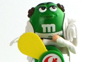 Wars M&M Candy Dispenser Light Saber Mini Princess Leia Green Fan Toy