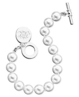 Lauren Ralph Lauren Bracelet, Glass Pearl Toggle (10 mm)   Fashion