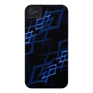 Blue on Black Thorn iPhone 4 Barely There Case iPhone 4 Cover