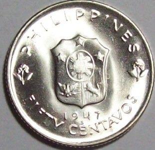 1947 s Philippines Douglas MacArthur Commemorative 50 Centavo V V