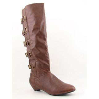 Madden Girl Zhesty Womens Sz 10 Brown Cognac Boots Knee Shoes