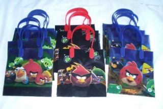 12 Pieces Angry Bird Goody Gift Bag Birthday Party Favor Supply