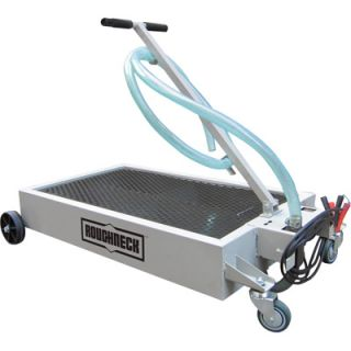 Roughneck Low Profile Oil Drain Dolly with Pump 15 Gal Capacity 12V