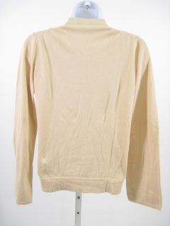 Lutz Patmos Tan Button Front Cardigan Sweater Sz S