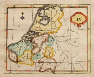1784 Antique Map Holland Belgium Luxembourg Bruyset