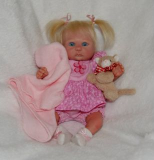 OOAK Hand Sculpted Clay Baby Girl by Melody Hess