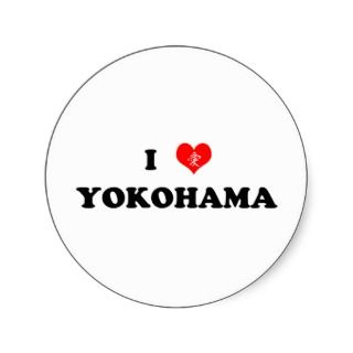 Heart Yokohama Sticker