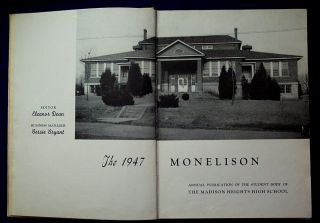 1947 Madison Heights High School Yearbook Monelison Near Lynchburg VA