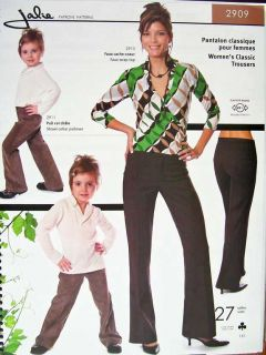 Womens Girls Classic Trousers Pants Sewing Pattern N 27 Sizes