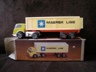 Maersk Line Semi Truck Advertising Mini Toy Vintage