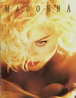 Madonna 1990 Blonde Ambition Concert Tour Program Book