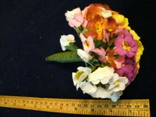 Vintage Millinery Flower Collection Pink White Hat Doll Size W511