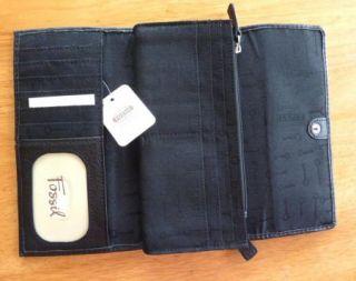 FOSSIL Maddox Black Leather Small Satchel Crossbody Handbag & Matching