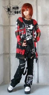 Visual Kei Punk Gothic Kimono Lolita Coat Sweater Emo