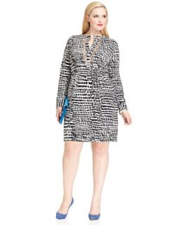 NEW Work Your Wardrobe Plus Size Animal Print Shirt Dress Look