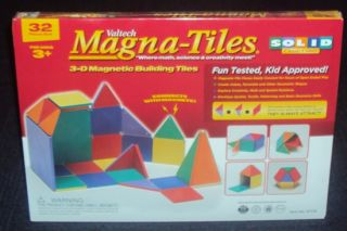 Valtech Magna Tiles 32 Piece Solid Colors Set Brand New Factory SEALED