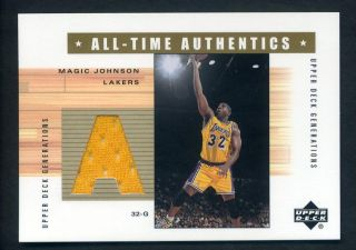 Upper Deck UD Generations Magic Johnson Game Used Jersey ~ Worn Lakers