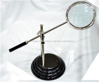 Large Table Loupe Magnification, Magnifying Glass,Nautical Decor, Gift