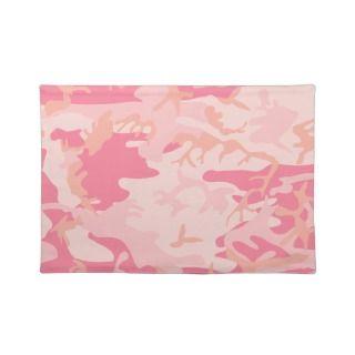 Pink Camo   Girly Camo Place Mats