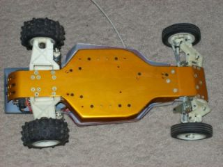 1984 AE Team Associated RC 10 Car, Futaba Remote, Batteries, Chargers