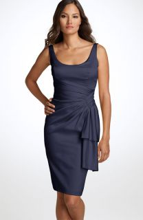 Maggy London Sleeveless Stretch Satin Sheath Dress