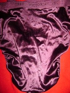 Vintage Victorias Secret Shiney Satin Second Skin Plum Panties