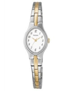 Pulsar Watch, Womens Two Tone Stainless Steel Bracelet 18mm PEGG05