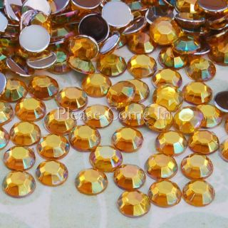 500 to 10 000 5mm Flat Back AB Round Rhinestones Crystal Gem Scrapbook